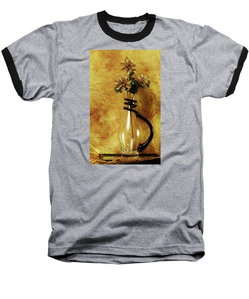 Gold Flowers In Vase Baseball T-Shirt