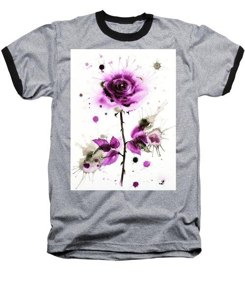 Gold Heart Of The Rose Baseball T-Shirt by Zaira Dzhaubaeva