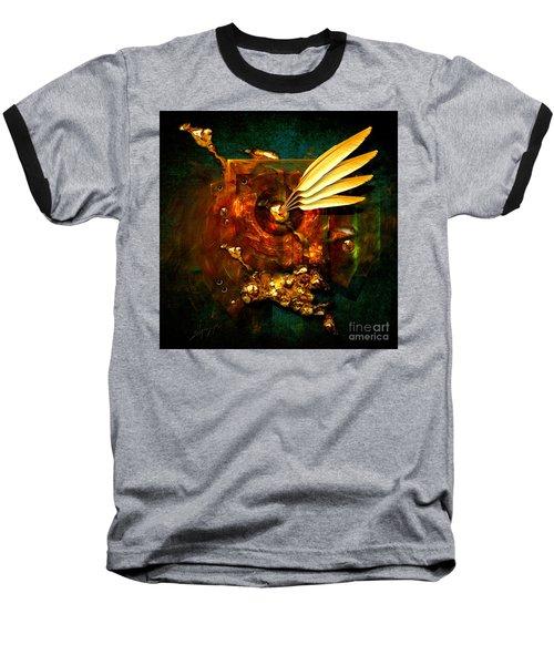 Gold Inkpot Baseball T-Shirt by Alexa Szlavics