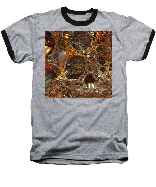 Baseball T-Shirt featuring the digital art Gold Mine by Lyle Hatch