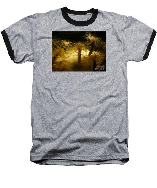 Gold Sea Anemones Baseball T-Shirt