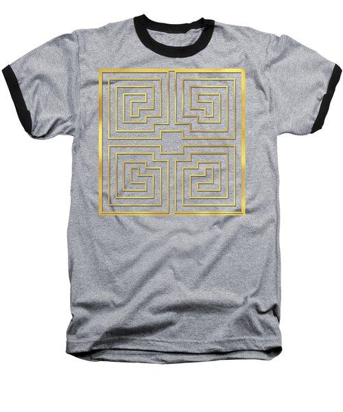 Baseball T-Shirt featuring the digital art Gold Stripes Transparent by Chuck Staley