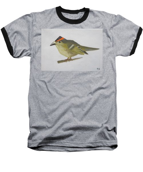 Goldcrest Baseball T-Shirt by Tamara Savchenko