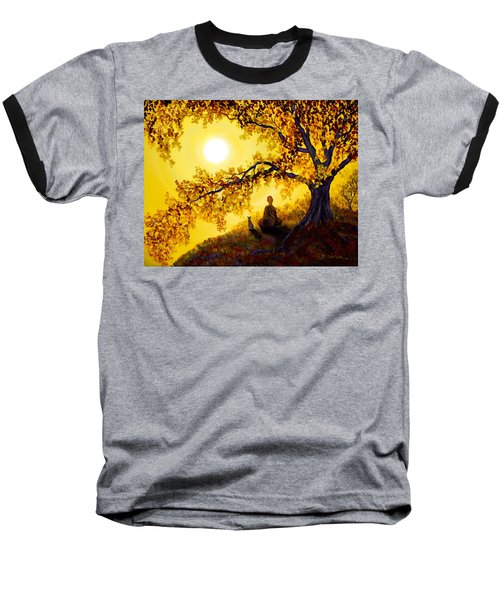 Golden Afternoon Meditation Baseball T-Shirt by Laura Iverson