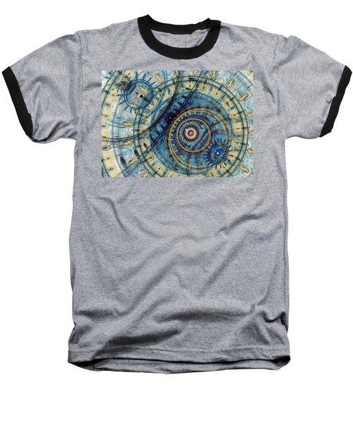 Golden And Blue Clockwork Baseball T-Shirt