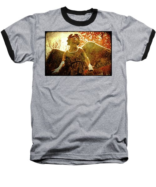 Baseball T-Shirt featuring the photograph Golden Angel Of Hope by Jean Haynes