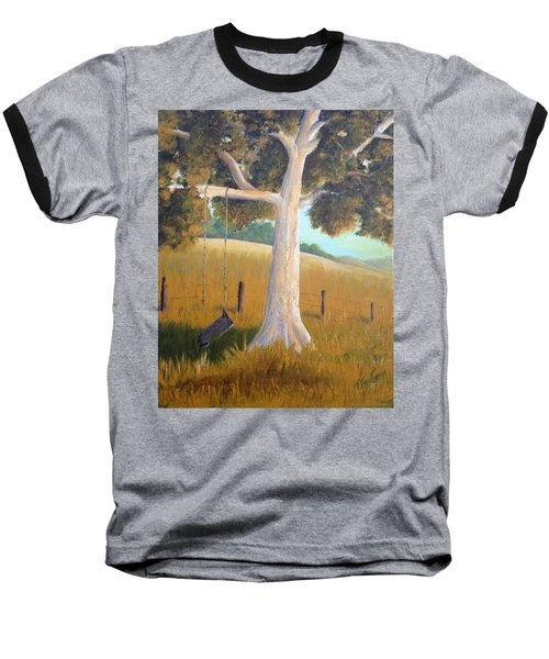 The Shadows Of Childhood Baseball T-Shirt by T Fry-Green