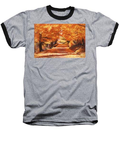 Golden Autumn Baseball T-Shirt