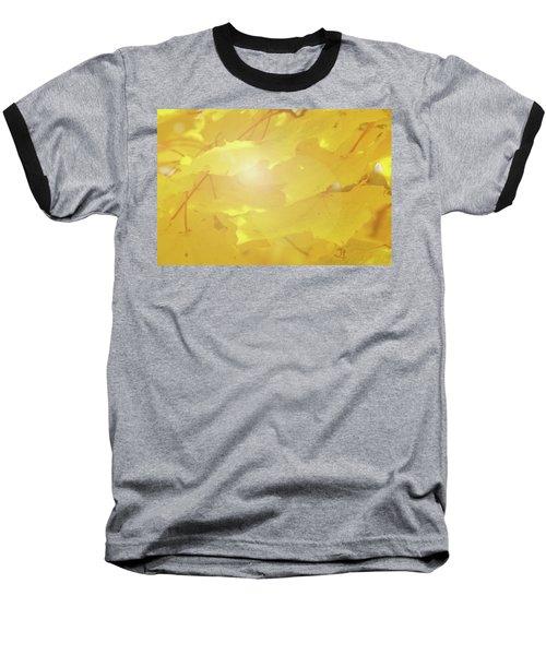 Golden Autumn Leaves Baseball T-Shirt