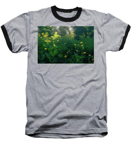 Golden Blooms Baseball T-Shirt
