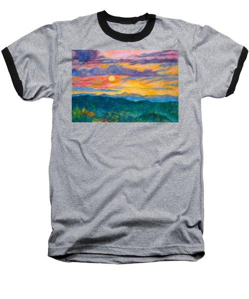 Golden Blue Ridge Sunset Baseball T-Shirt