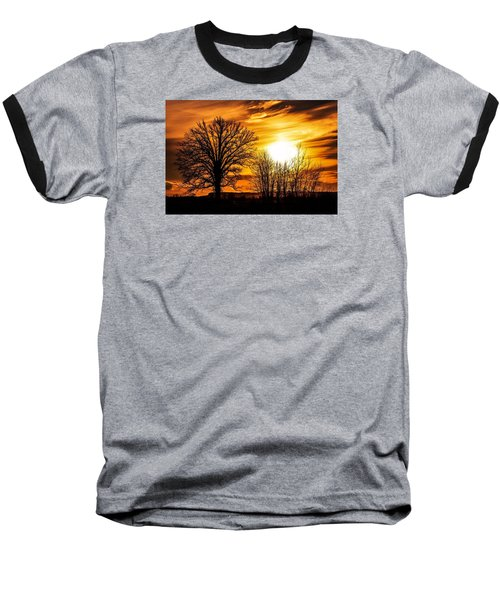 Golden Brushstrokes Baseball T-Shirt