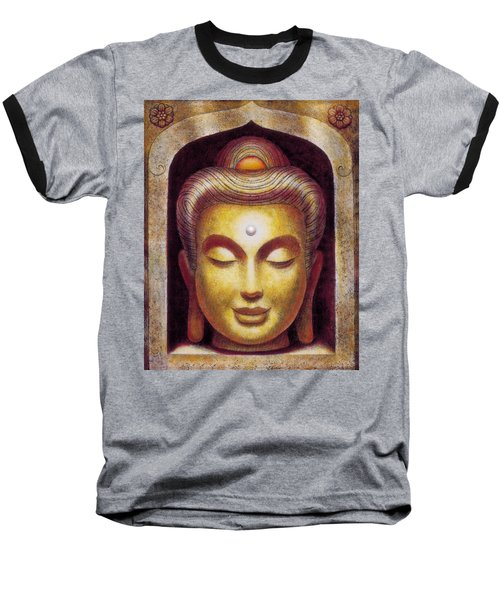 Baseball T-Shirt featuring the painting Golden Buddha by Sue Halstenberg
