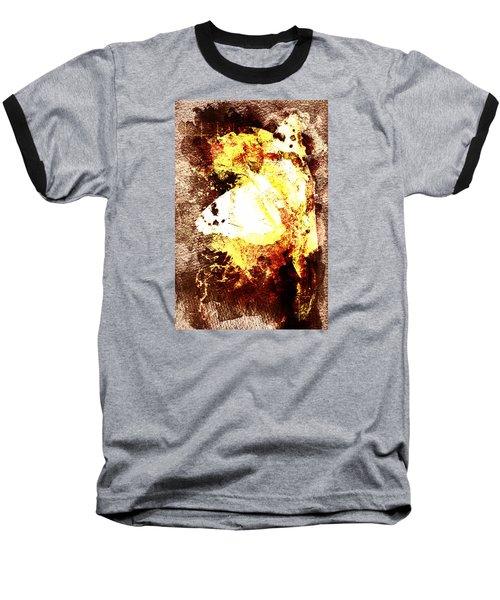 Baseball T-Shirt featuring the digital art Golden Butterfly by Andrea Barbieri