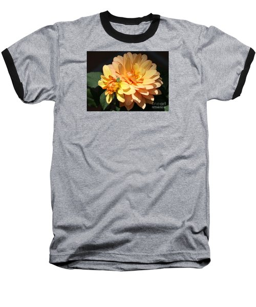 Golden Dahlia With Bud Baseball T-Shirt