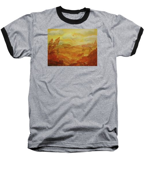 Golden Dawn Baseball T-Shirt by Ellen Levinson