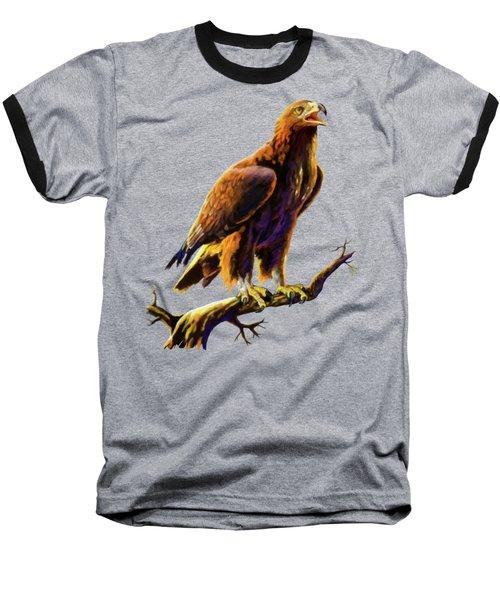 Golden Eagle Baseball T-Shirt by Anthony Mwangi