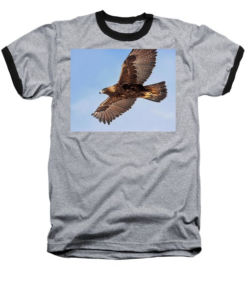 Golden Eagle Flight Baseball T-Shirt