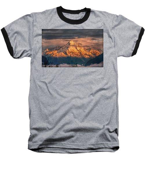 Golden Evening Sun Baseball T-Shirt by Hanny Heim