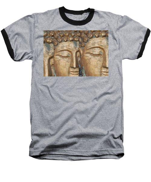 Golden Faces Of Buddha Baseball T-Shirt