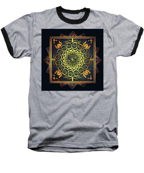 Golden Filigree Mandala Baseball T-Shirt