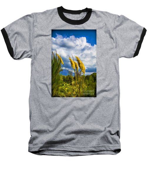 Baseball T-Shirt featuring the photograph Golden Fluff by Rick Bragan