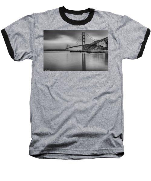 Golden Gate Black And White Baseball T-Shirt