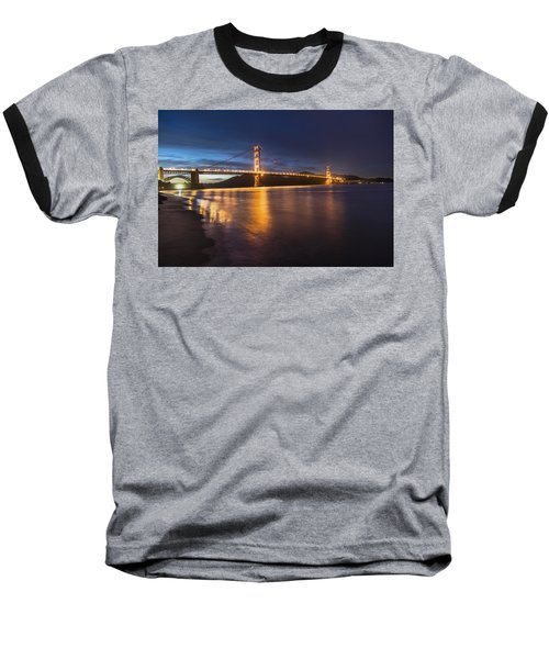 Golden Gate Blue Hour Baseball T-Shirt by John McGraw