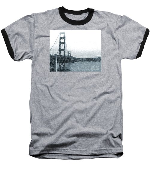Golden Gate Blue Rain Baseball T-Shirt