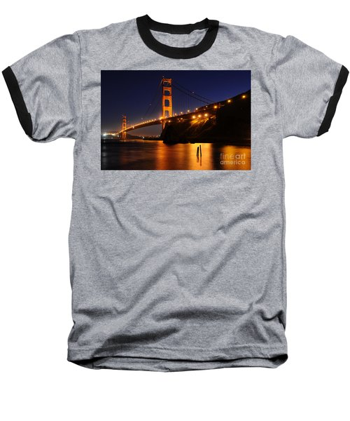 Golden Gate Bridge 1 Baseball T-Shirt by Vivian Christopher