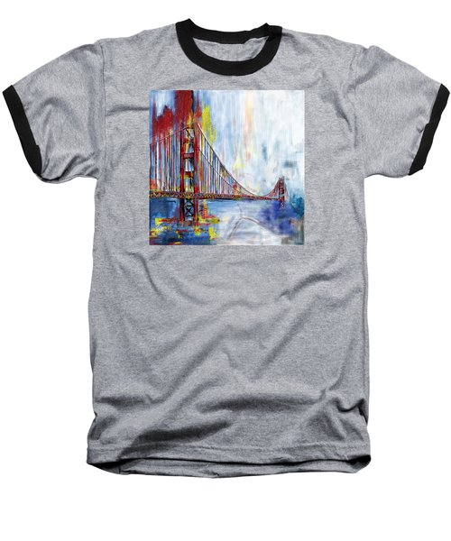 Golden Gate Bridge 218 1  Baseball T-Shirt by Mawra Tahreem