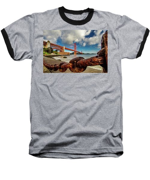 Baseball T-Shirt featuring the photograph Golden Gate Bridge And Ft Point by Bill Gallagher