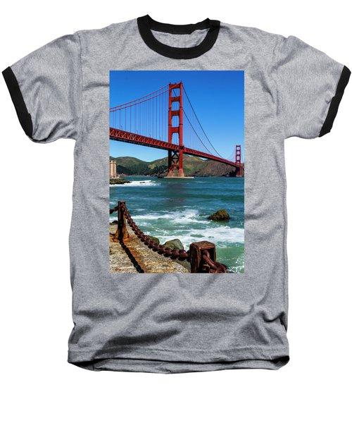 Golden Gate Bridge From Fort Point Baseball T-Shirt by Teri Virbickis
