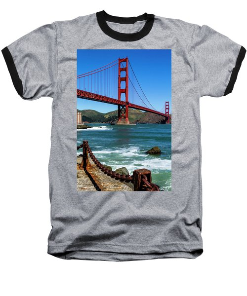 Golden Gate Bridge From Fort Point Baseball T-Shirt