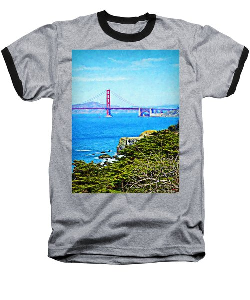 Golden Gate Bridge From The Coastal Trail Baseball T-Shirt