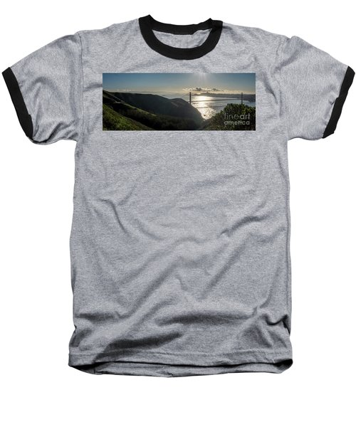 Golden Gate Bridge From The Road Up The Mountain Baseball T-Shirt