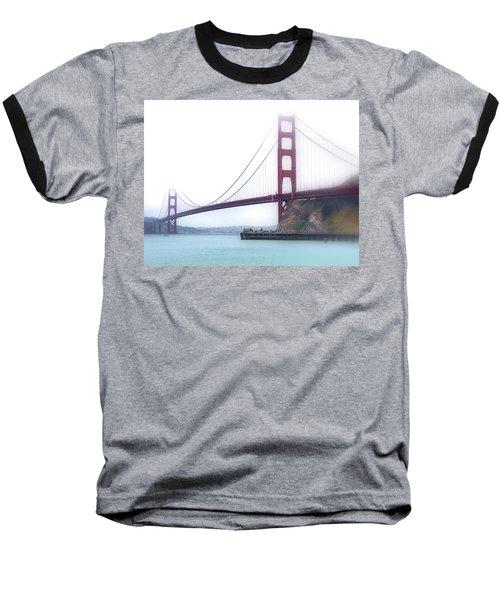 Golden Gate Bridge Baseball T-Shirt by Laura DAddona