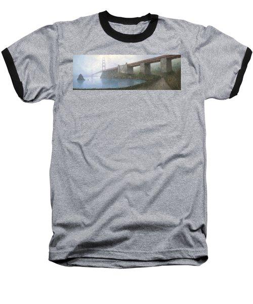 Golden Gate Bridge Baseball T-Shirt by Steve Mitchell