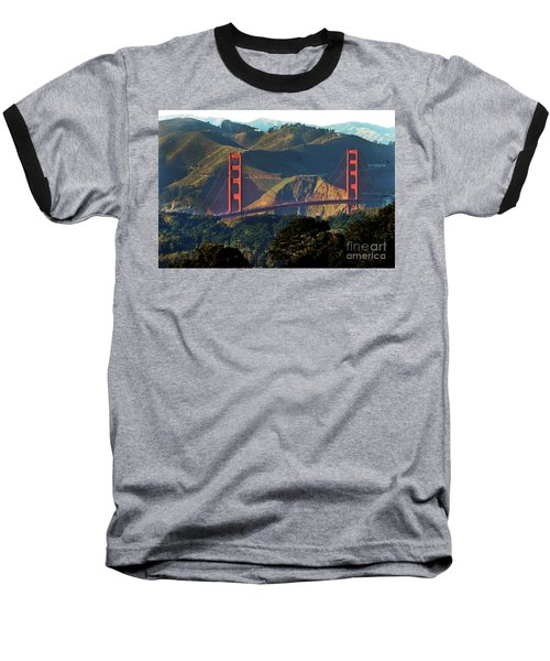 Baseball T-Shirt featuring the photograph Golden Gate Bridge by Steven Spak