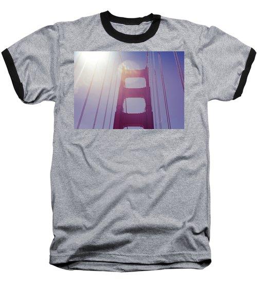 Baseball T-Shirt featuring the photograph Golden Gate Bridge The Iconic Landmark Of San Francisco by Jingjits Photography