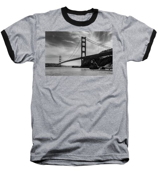 Golden Gate East Bw Baseball T-Shirt