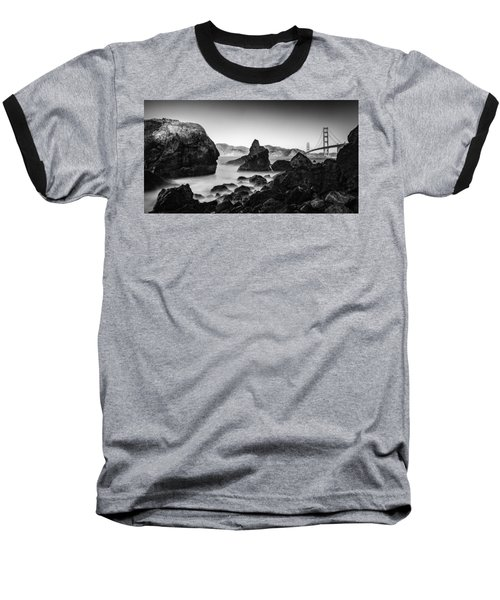 Golden Gate In Black And White Baseball T-Shirt