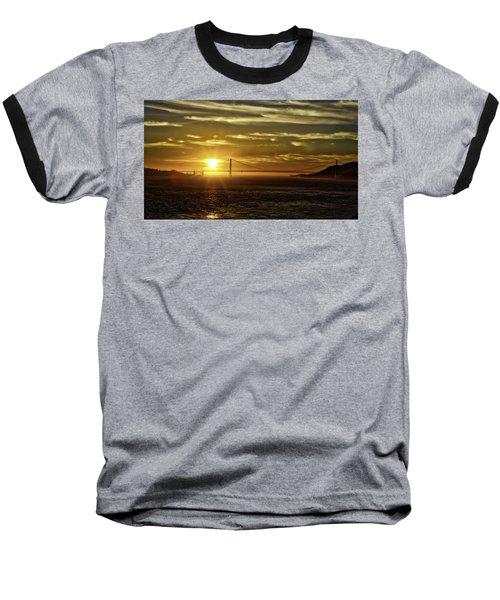 Golden Gate Sunset Baseball T-Shirt