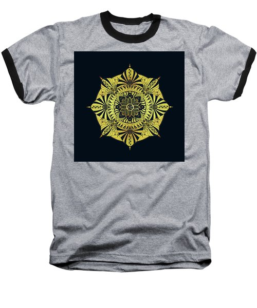 Baseball T-Shirt featuring the drawing Golden Geometry by Deborah Smith
