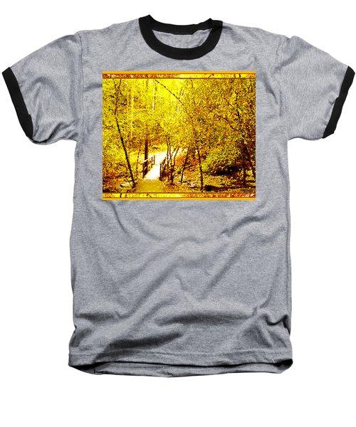 Golden Glow Baseball T-Shirt by Seth Weaver