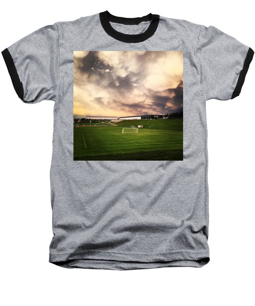 Golden Goal Baseball T-Shirt by Christin Brodie