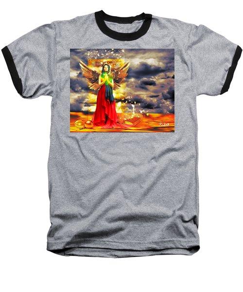 Golden Goddess Of Gratitude Baseball T-Shirt