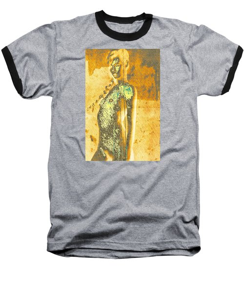 Golden Graffiti Baseball T-Shirt by Andrea Barbieri