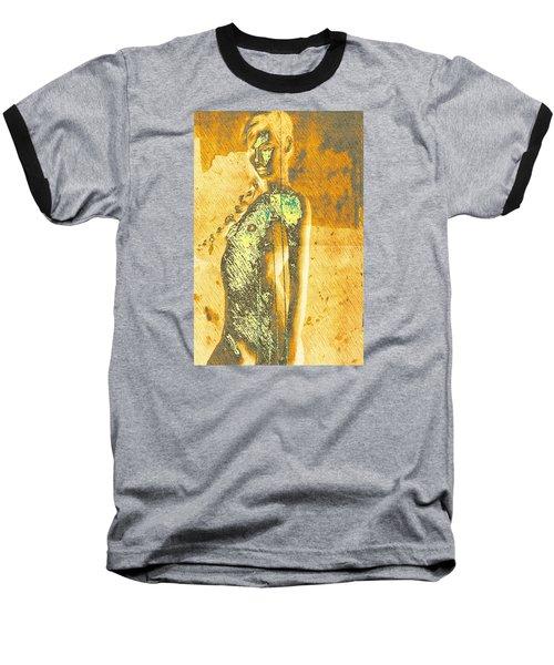 Golden Graffiti Baseball T-Shirt