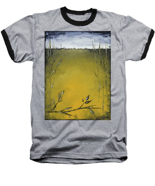 Golden Greens Baseball T-Shirt by Carolyn Doe